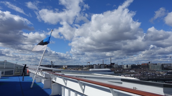 hel leaving helsinki on estonian ferry