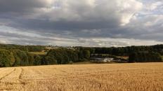 fields and lowering skies near in der heide