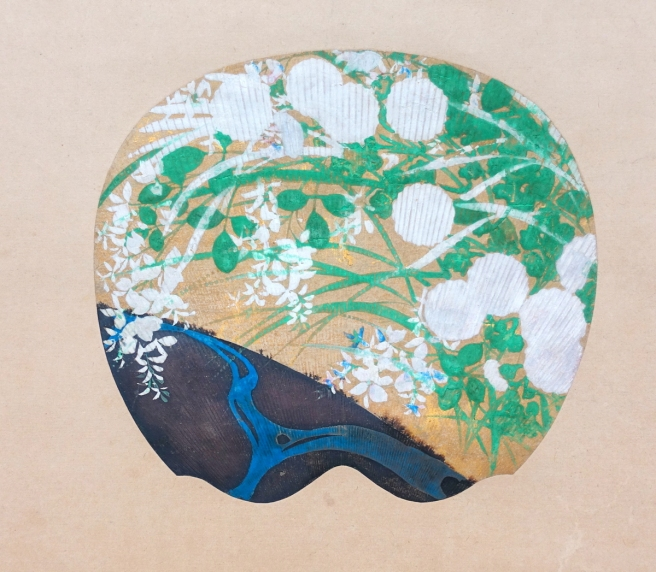 Langen Foundation - Ogata Korin, Chrysanthemums and Bush Clover by a River