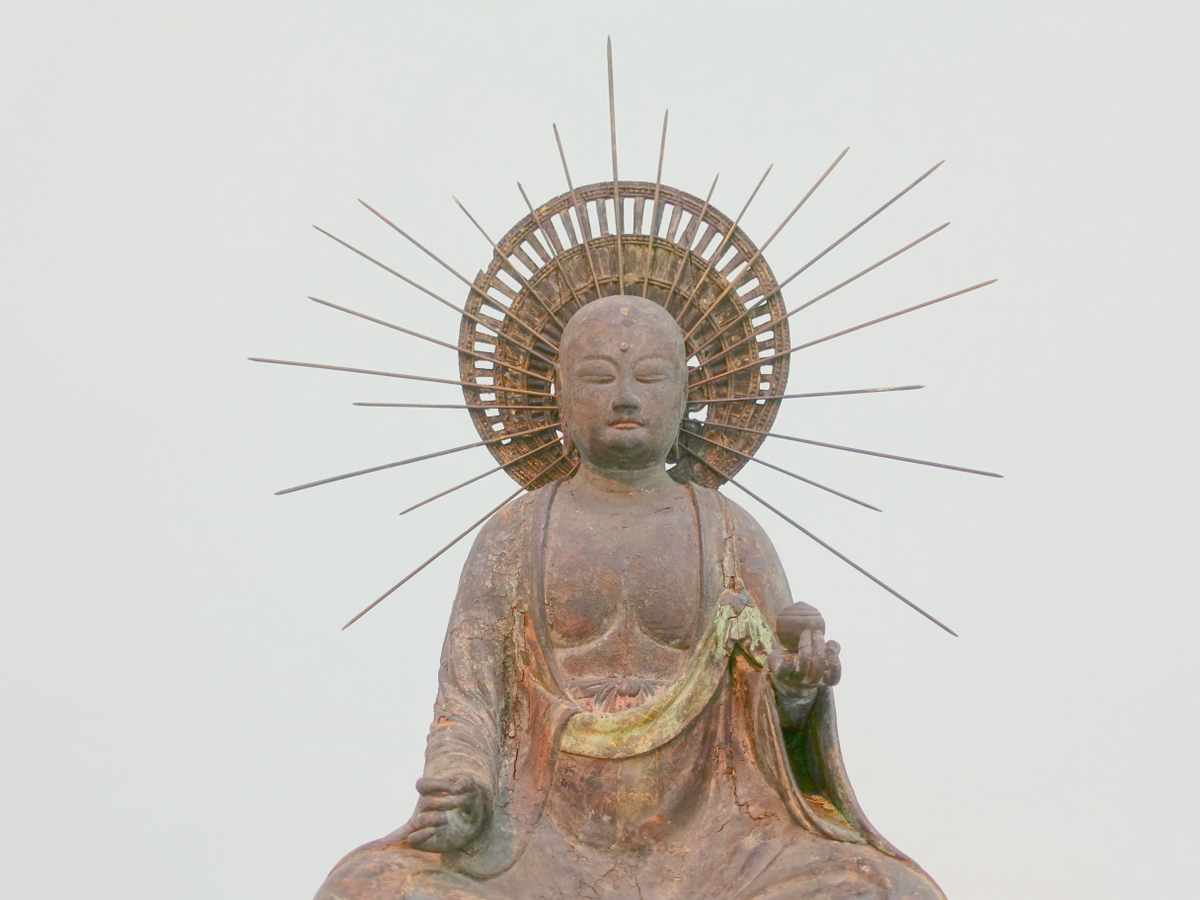 Langen Foundation Statue of Buddha with Radiant Crown and Wish-Granting Jewel