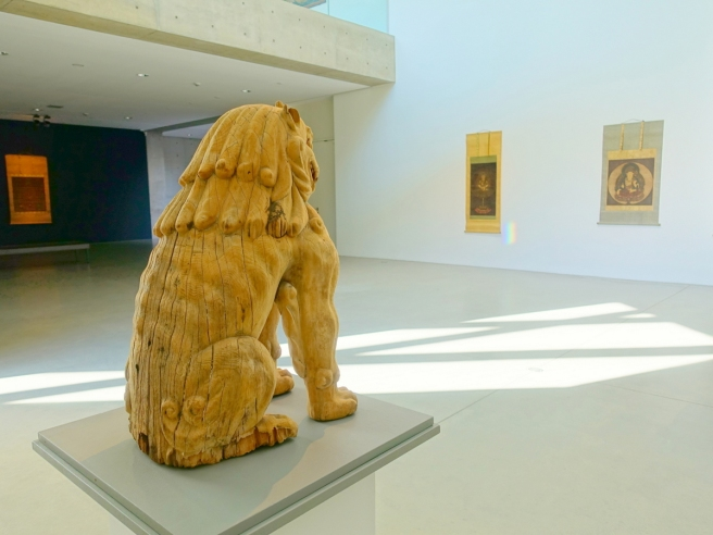 Langen Foundation Lion and Scrolls